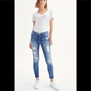 7 For All Mankind Skinny Distressed Jeans - 26